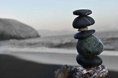 Rocks balanced on top of each-other