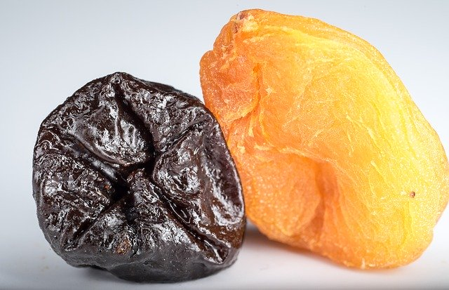 Prune and dried apricot